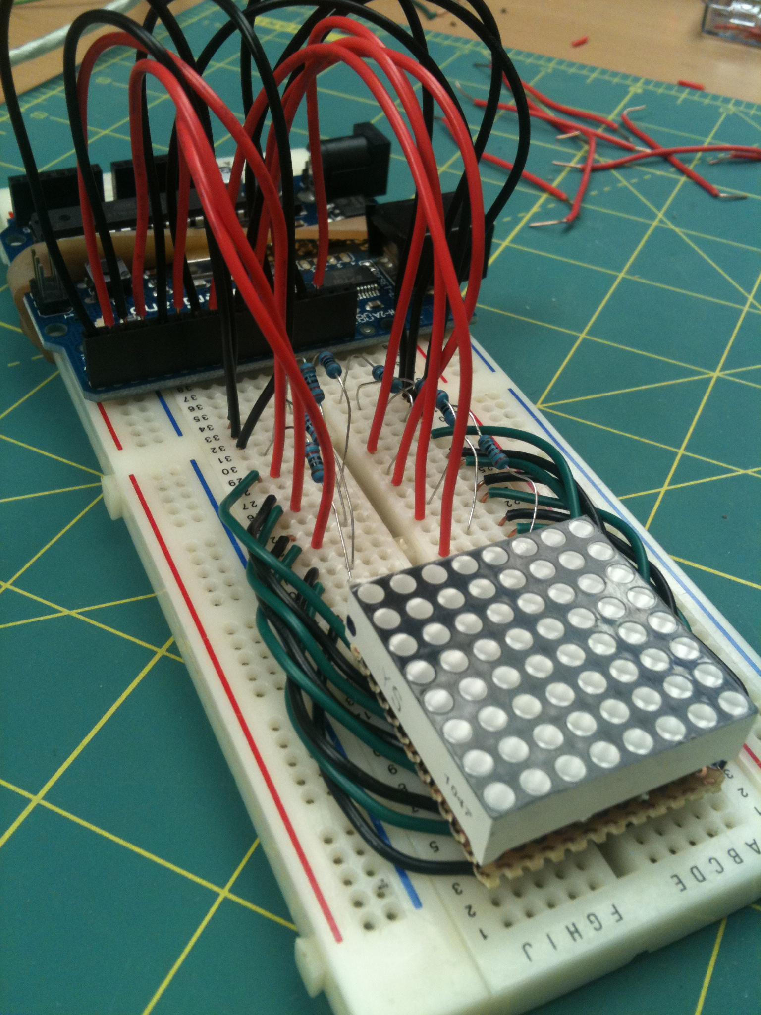 Arduino Game Of Life on 8x8 LED Matrix - Brownsofa
